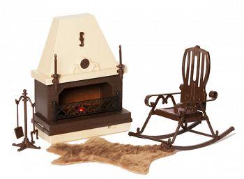 """Набор мебели для кукол """"Коллекция. Каминная"""" (Огонек С-1301)"""