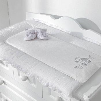 Пеленальный матрасик Funnababy Lovely Bear White