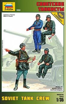 """Сборная модель """"Советские танкисты"""" (Звезда 3504)"""