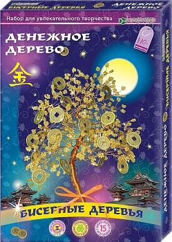 """Набор для изготовления бисерного дерева """"Денежное дерево"""" (Клевер АА 46-102)"""