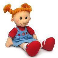"""Мягкая игрушка """"Кукла Майя в сарафане с яблочками"""""""