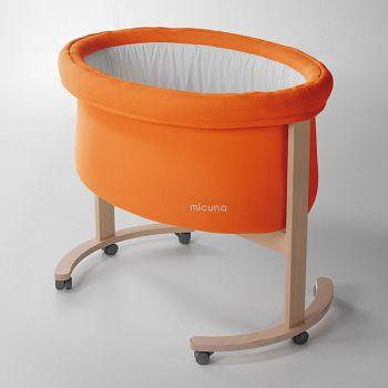 Колыбель Micuna Smart оранжевый/натуральный (MO-1457)