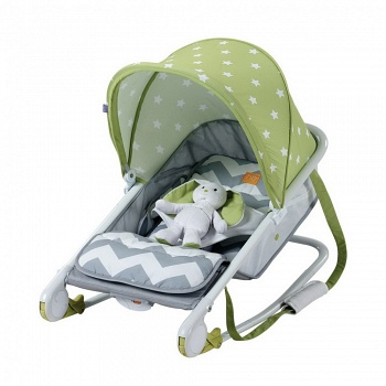 Шезлонг Happy Baby Bouncer Green (2701)