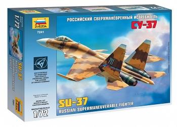 """Сборная модель """"Российский сверхманевренный истребитель Су-37"""" (Звезда 7241)"""
