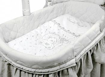 Постельное белье для электронной колыбели Funnababy Lovely Bear White
