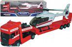 """Модель тягача с вертолетом """"SCANIA TRANSPORT. Пожарная"""""""