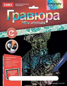 """Гравюра с голографическим эффектом """"Little Animals. Щенки чихуахуа"""" (Lori Гр-537)"""