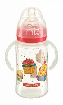 """Бутылочка для кормления с ручками """"Milky Stories"""" (Happy Baby 10010)"""