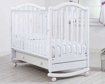 """Кровать 120x60 Гандылян """"Лейла"""" белый (К-2002-17б)"""