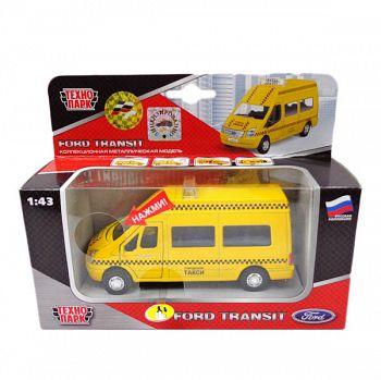 """Машина металлическая инерционная """"FORD TRANSIT. Такси"""" (Технопарк SB-13-02-4)"""