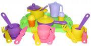 """Набор игрушечной посуды с подносом на 3 персоны """"Настенька"""""""