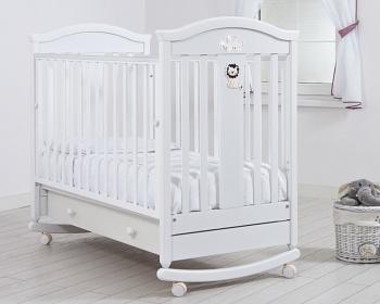 """Кровать 120x60 Гандылян """"Даниэль"""" белый (К-2002-29б)"""