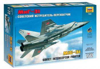 """Сборная модель """"Советский истребитель-перехватчик МиГ-31"""" (Звезда 7229)"""
