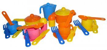 """Набор игрушечной посуды на 4 персоны """"Настенька"""" (Полесье 3926)"""