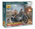 """Сборная модель """"Великая Отечественная. Немецкий мотоцикл R-12"""""""