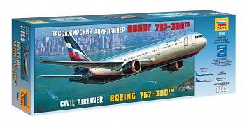 """Сборная модель """"Пассажирский авиалайнер Боинг 767-300"""" (Звезда 7005)"""
