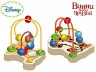 """Деревянная логика с бусинками """"Disney. Винни и его друзья"""""""