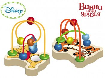 """Деревянная логика с бусинками """"Disney. Винни и его друзья"""" (GT6236)"""