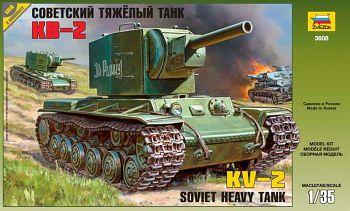 """Сборная модель """"Советский тяжелый танк КВ-2"""" (Звезда 3608)"""