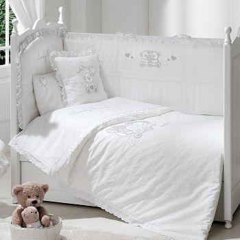 Постельное белье 120x60 Funnababy Lovely Bear White