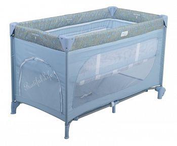 Манеж-кровать Happy Baby Martin Blue (2443)