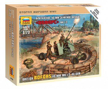 """Набор миниатюр """"Великая Отечественная. Британское 40-мм зенитное орудие MK-1/2 """"Бофорс"""" (Звезда 6170)"""