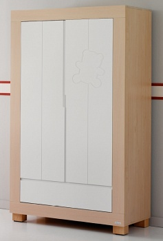 Шкаф Micuna Neus Luxe белый/натуральный (A-1390)