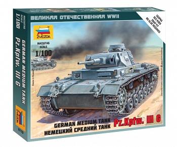 """Сборная модель """"Великая Отечественная. Немецкий средний танк Pz.Kp.fw III G"""" (Звезда 6119)"""