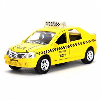 """Машина металлическая инерционная """"RENAULT LOGAN. Такси"""" (Технопарк SB-13-21-3)"""