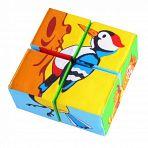 """Кубики-мякиши """"Собери картинку. Птицы"""" (4 элемента)"""