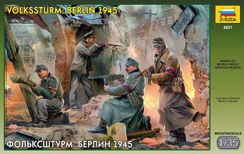 """Сборная модель """"Фольксштурм. Берлин 1945"""" (Звезда 3621)"""