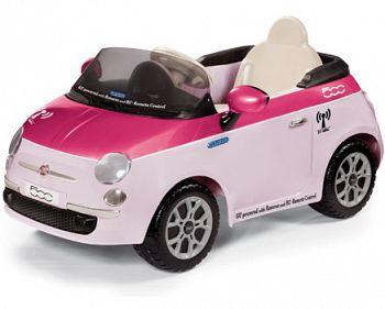 Электромобиль Peg-Perego Fiat 500 Pink на радиоуправлении (IGED1164)