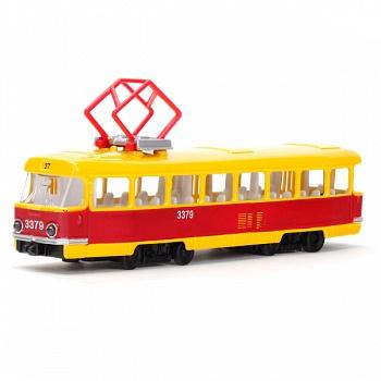 Трамвай металлический инерционный (Технопарк CT12-463-2)