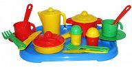 """Набор игрушечной посуды с подносом на 2 персоны """"Настенька"""""""