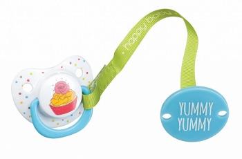 """Пустышка с держателем """"Yummy"""" (Happy Baby 13006)"""