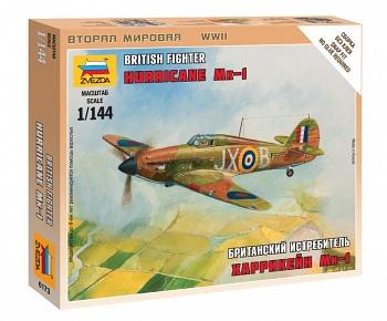 """Сборная модель """"Великая Отечественная. Британский истребитель Харрикейн Мк-1"""" (Звезда 6173)"""