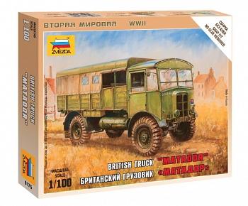 """Сборная модель """"Великая Отечественная. Британский грузовик """"Матадор"""" (Звезда 6175)"""