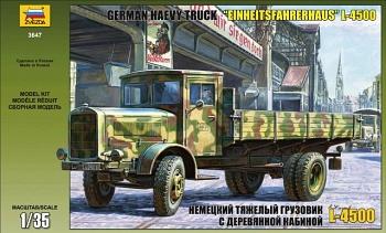 """Сборная модель """"Немецкий тяжелый грузовик L 4500 c деревянной кабиной"""" (Звезда 3647)"""