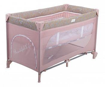 Манеж-кровать Happy Baby Martin Pink (2443)