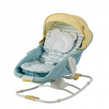 Шезлонг-люлька Happy Baby Egoist NEW Blue (2652)