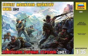 """Сборная модель """"Советские горные стрелки 1942"""" (Звезда 3606)"""