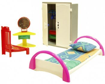"Набор мебели для кукол ""Кристина. Спальня"" (ПК Форма С-48-Ф)"