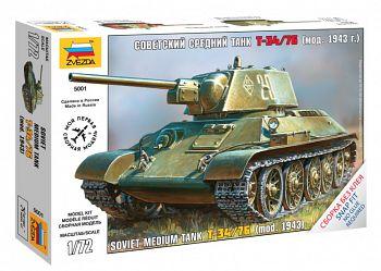 """Сборная модель """"Советский средний танк Т-34/76"""" (Звезда 5001)"""