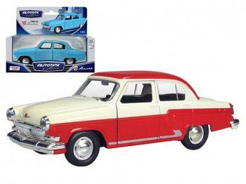 """Модель автомобиля """"ГАЗ-21 ВОЛГА. Двухцветная"""" (Autotime Collection 34101W)"""