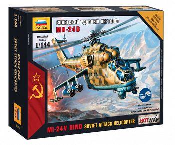 """Сборная модель """"Hot War. Советский ударный вертолет Ми-24В"""" (Звезда 7403)"""