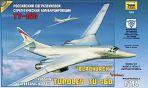 """Сборная модель """"Подарочный набор. Российский сверхзвуковой стратегический бомбардировщик Ту-160"""""""