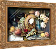 """Объемная картина """"Галерея натюрмортов. Завтрак поэта"""" (72 детали)"""