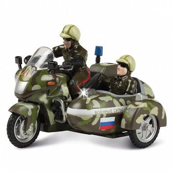"""Мотоцикл металлический инерционный с фигурками """"Военные силы"""" (Технопарк CT-1247-4)"""