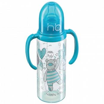 """Бутылочка для кормления с ручками """"Baby Bottle"""" + соска (Happy Baby 10005)"""