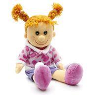 """Мягкая игрушка """"Кукла Майя в тапочках с помпонами"""""""